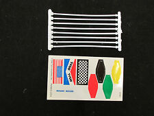 TYCO FLAG POLES / SPRUES WITH FLAG SHEET - 1 SET - NOS - MADE IN 1992 IN USA!