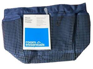Mesh Bathtub Caddy Room Essentials Polyester  Navy Blue College  Dorm School