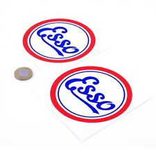 Esso Vintage Stickers Classic Car Motorcycle Race Sticker Vinyl Decals 100mm x2