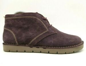 Clarks Artisan Purple Suede Leather Casual Chukka Ankle Boots Women's 7.5 M