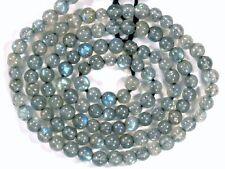 "Labradorite with fire 3mm-4mm Round Gemstone Beads 14"" strand"