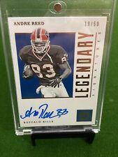 Andre Reed 🔥🔥🔥 Auto Encased #'d /50 Buffalo Bills