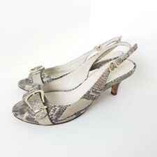 Cole Haan Womens 6.5 B Open Toe Slingbacks NikeAir Snakeskin Pump Heels