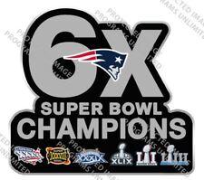 "SUPER BOWL 53 LIII STICKER NEW ENGLAND PATRIOTS 6X CHAMPIONS NFL SUPERBOWL 4"""