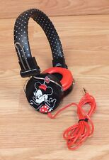 Disney Polka Dot Red Black & White Minnie Mouse Sms Audio Headphones Only *Read*