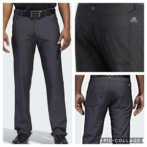 NEW! Adidas Ultimate365 Heather 5-Pocket Golf Pants-Black Heathered- Pick Size