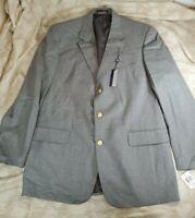 NWT Gray Heather Savile Row Mens Blazer Size 44L