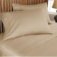 "Full Sleeper Sofa Bed Sheet Set Taupe 500 Thread Count 54""x72""x6"""