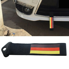 1X Racing Car Front Rear Bumper Towing Hook Germany Flag Stripe Decal Tow Strap