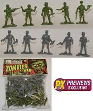 Zombies at War 35 Plastic Little Green Gray Army Men Brand New Sealed Package