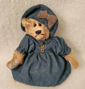 The Country Peddlers And Company of America Inc Girl Bear In Blue Jean Dress