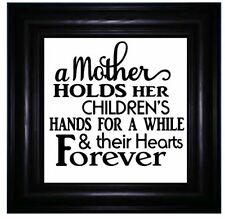 A Mother Holds her Childrens Hands for a While Vinyl Sticker for IKEA BOX FRAME
