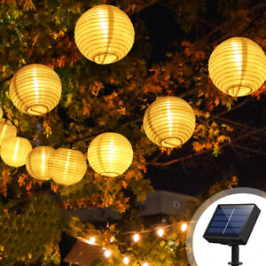 20 LED Solar Garden String Lights Hanging Lantern Fairy Light Outdoor UK