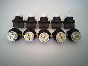 Ford LTD 10 White 4 LED Dashboard Instrument Panel Indicator Light Bulb Socket