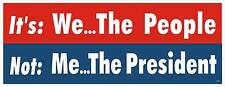 ANTI OBAMA TEA PARTY POLITICAL BUMPER STICKER #4025