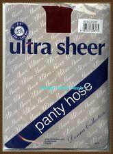 ultra sheer panty hose pantyhose stocking girl BURGUNDY  one size