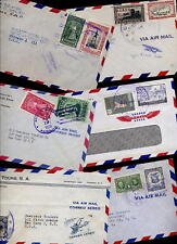 PANAMA 1940s-60 AIRMAIL COVERS to USA...x 10