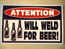 FUNNY WELDER WELDING ROD MIG TIG WIRE HELMET ELECTRODES STICKER DECAL BEER 196