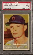 1957 Topps Set # 334 Jerry Schoonmaker PSA 6