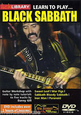 LICK LIBRARY Learn to Play BLACK SABBATH Paranoid War Pigs Rock Metal Guitar DVD