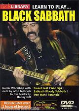 Bibliothèque lécher apprendre à jouer de black sabbath paranoid guerre porcs ROCK METAL GUITARE DVD