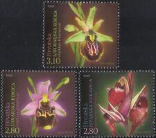 Croatia 2014 Orchids/Flowers/Nature/Endangered Plants/Conservation 3v set n44788