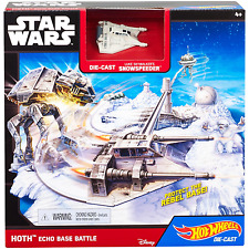 Star Wars Hot Wheels Die-Cast Luke Skywalker's Snowspeeder Hoth Echo Base Battle