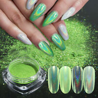 1G Light Green Holographic Glitter Nail Powder Dust Chrome Pigment Decoration