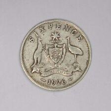 1926 AUSTRALIA SILVER SIXPENCE - CLASSIC! INV#430