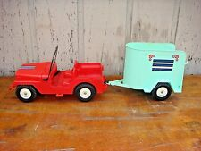 VINTAGE MARX JOHNNY WEST JEEP & HORSE TRAILER  BEST OF THE WEST