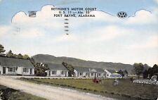 Fort Payne Alabama~Bethune's Motor Court~Roadside US 11~1954 Linen Postcard