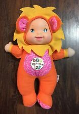 Goldberger Baby's First Sing & Learn Baby Doll in Colorful Lion Outfit Euc