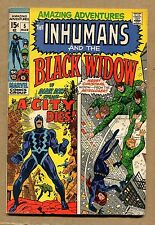 """Amazing Adventures #5 - """"The Inhumans And The Black Widow"""" 1971 (Grade 5.5) Wh"""