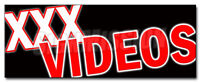 XXX VIDEOS DECAL sticker dvd adult films movies x rated rental x-rated