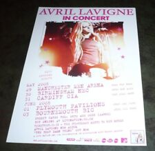 AVRIL LAVIGNE (UK Concert Tour Flyer) 2008