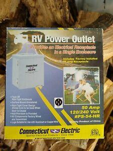 Connecticut Electric PS-54-HR RV / EV Power Outlet 50 A 120 / 240 V