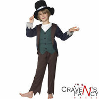 Boys Victorian Costume Urchin Fancy Dress Book Week Kids Oliver Twist Childrens