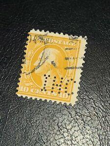 US 1911 Scott# 381 - 10c Yellow George Washington Used - #3215