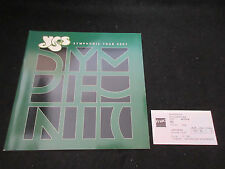 Yes 2001 Symphonic Tour Book Concert Program Ticket Stub Steve Howe Jon Anderson
