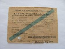 2 WK, Kl. Wehrmachtfahrschein T 2,1 Komp Heeresunteroffizierschule Teischen,1943