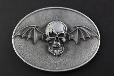 Bate De Cráneo con alas correa hebilla de metal
