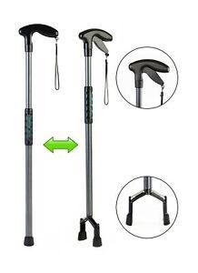 Handy Cane (Medium) All-In-One Walking Aid with Built-In Reacher Grabber Medium