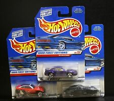 3 NEW HOT WHEELS 1999 FIRST EDITIONS '99 MUSTANG 909 38 PHANTOM 656 JEEPSTER 922
