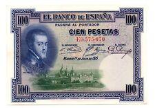 1925 ESPAÑA, 100 Pesetas, Serie E, estado EBC++,  BILLETE