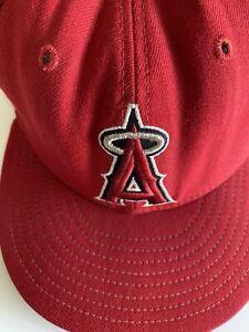 Los Angeles LA Angels Hat New Era 59Fifty Logo Wool Baseball Cap Fitted 7 1/2