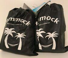 Lot of 2 Nylon Hammock in Carrying Bag - Brand New