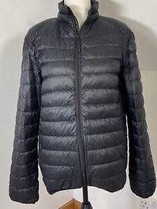 HARVEY & JONES Puffa Jacket Black Feather & Down Light Weight Coat Uk Size M