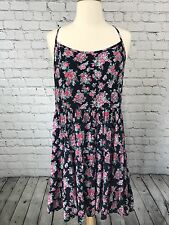 Forever 21 Plus Size XL Floral Tiered Boho Dress Tie Back Festival Tank Boho