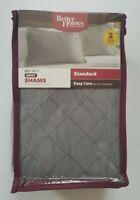 Better Homes & Gardens Set of 2 Standard Pillow Shams  Gray