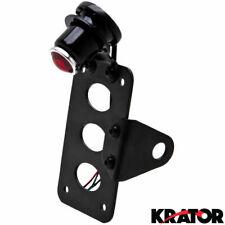 Black Horizontal / Vertical License Plate Relocator Holder Bracket Mount Light